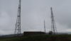 Radio masts on Werneth Low in the rain