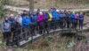 A bridge full of walkers