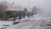 Crewe Road in the grip of a blizzard