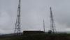 Radio masts on Werneth Low in the rain