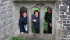 Three Stooges trapped in the ruins