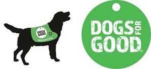 dog with logo